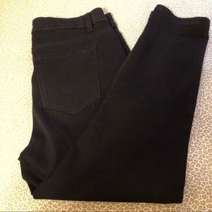 Black denim capris